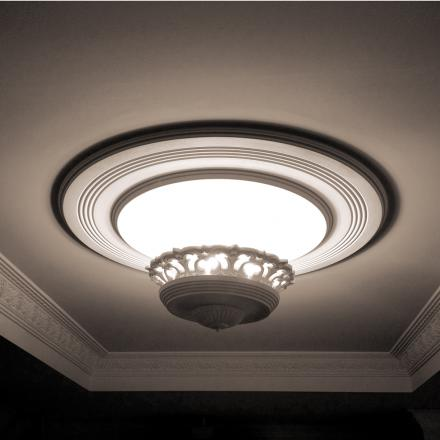 Tornado Plaster Light Fixture